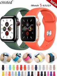 Silicone Strap For Apple Watch band 44mm 40mm 38mm 42mm Rubber belt correa wristband Sport bracelet iWatch series 3 4 5 se 6
