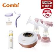[MKCs]Q3(免運附發票)Combi 自然吸韻雙邊電動 吸乳器 贈手動配件組、標準玻璃奶瓶240ml