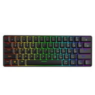 GK61 Swappable 60% RGB Keyboard Customized Kit PCB Mounting Plate Case Gamer Mechanical Feeling Keyboard Gaming RGB Keyboard