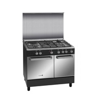 Fujidenzo 90 cm Range, 4 Gas + 1 Electric, Rotisserie, Gas tank compartment