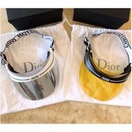 全新 真品  Dior 白邊遮陽帽