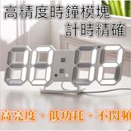 LED數字時鐘 立體電子時鐘 壁掛 科技電子鐘 數字鐘 電子鬧鐘 掛鐘 LED 3D 掛鐘 電子式 夜光 時尚 工業風