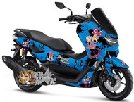 Decal stiker Full body Motor Yamaha new Nmax 2020 2021  Motif minnie Mouse