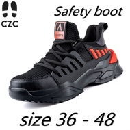 READY STOCKSafety boot Electrical insulating Steel toe cap Indestructible shoes Work Welding Safetyshoes bige size 48