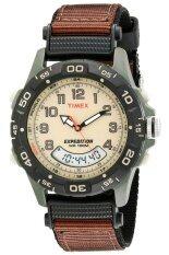 Timex นาฬิกาข้อมือผู้ชาย สีน้ำตาล สายผ้า รุ่น T45181