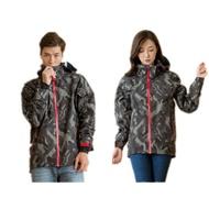 Outperform 奧德蒙 防水透氣機能雨衣 風衣 連帽外套 幾何迷彩 速乾設計 可加購雨褲