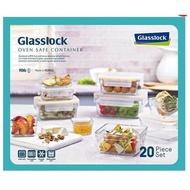 代購costco Glasslock 無邊框系列玻璃保鮮盒 含蓋共20件組#107711