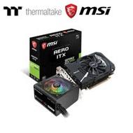Thermaltake曜越 Smart RGB 500W 電源供應器 +  MSI微星 GTX1050Ti AERO 4G OCV1 顯示卡