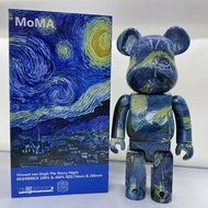 400%  28CM  The Starry Night Vincent .van Gogh Bearbrick  Action Figure Toy Gift
