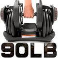 快速調整90磅智慧啞鈴C194-1090(17種可調式啞鈴)90LB重力設備40KG啞鈴槓鈴.40公斤舉重量訓練機器.運動健身器材.推薦哪裡買ptt