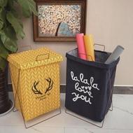 髒衣籃     手提髒衣籃大號鐵藝摺疊防水洗衣籃髒衣簍玩具收納筐儲物箱棉麻 ATF