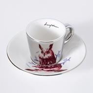 Luycho 韓國 鏡面倒影杯 咖啡杯 (濃縮款、小款) _ 貓頭鷹