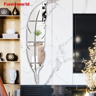 Wall Sticker 120*30cm Creative Feather Mirror Home Removable Wallpaper