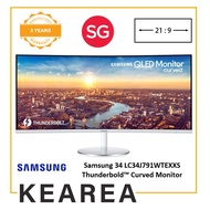 Samsung 34 LC34J791WTEXXS Thunderbold™ Curved Monitor with 21:9 Wide Screen (3 year onsite warranty)