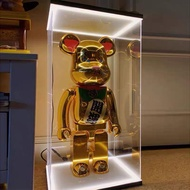 [Local Seller] READY STOCK! Bearbrick Casing 400% & 1000%! Wireless LED Acrylic Display case for Bearbrick 400% & 1000%