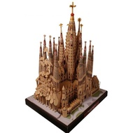 建物紙雕 建築紙模型 神聖家族大教堂聖家堂建筑精裝版3D紙模型 DIY手工紙模型 教堂模型 建築模型