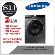 SAMSUNG WW12TP94DSX/SP QUICKDRIVE 12KG FRONT LOAD 4 TICKS - 2 YEARS LOCAL MANUFACTURER WARRANTY - BULKY