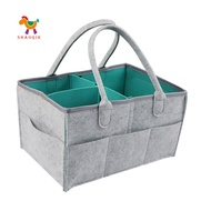 嬰兒尿布架儲物袋可折疊儲物箱,用於更換桌子手提袋便攜式汽車旅行儲物籃