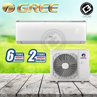 (WEST) GREE Lomo-N 1.0HP,1.5HP,2.0HP,2.5HP  Air Conditioner Wall Mounted R410a Non-Inverter Aircond West Malaysia