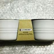 LE CREUSET 小烤盅 白 一組2入 200ml 可用於烤箱烤布丁 杯子蛋糕 電鍋蒸蛋使用