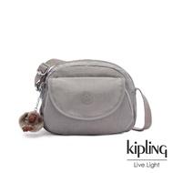 【KIPLING】沉穩時尚灰翻蓋側背小包-STELMA