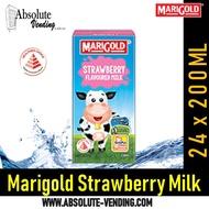 MARIGOLD UHT Strawberry Milk (Tetra) 200ml X 24