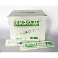 Sure-Guard Disposable Syringe with Needle 3cc
