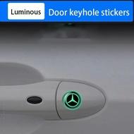 2 pieces Spot luminous Mercedes Benz keyhole sticker  car sticker W212 W204 W213 W205 W211 A180 A200 B180 C180 E200 CLA180 GLB200 GLC300 S CLS GLA GLE Class car accessories