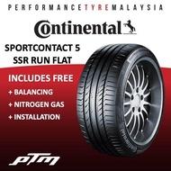 (APP PURCHASE) Continental Sport Contact 5 CSC5 SSR Run Flat Tyre (FREE INSTALLATION) 225/45R17 225/50R17 225/40R18 225/45R18 245/40R18 255/40R18 225/50R18 225/40R19 245/45R19 245/35R19 255/35R19 255/40R19 RUNFLAT