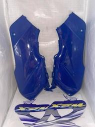 SIDE COVER SET XRM110 WITH STICKER BLUE YSK BRAND