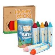 【Honey Sticks】純天然蜂蠟無毒蠟筆(6色高胖型+7色浴室可水洗型)