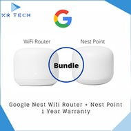 Google Nest WiFi Router (2nd Generation) + Nest WiFi Point (New version of Google Home