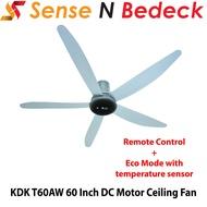KDK T60AW 60 Inch DC Motor Ceiling Fan