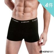 【Hang Ten】momo獨家彈力棉平口褲.四角褲.男內褲買二送二超值4件組(HT309)