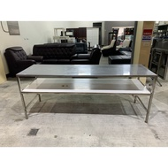 ✪樂芙二手貨✪ 白鐵雙層工作桌 二手工作桌 不鏽鋼工作桌 工作平台 備料桌 長桌