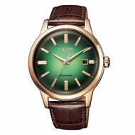 CITIZEN 星辰 NK0002-14W Mechanical 限量商品/時尚質感機械腕錶 /綠色面 41mm