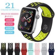 สายซิลิโคนสำหรับสายรัดข้อมือApple Watch,ขนาด44มม. 42มม. 40มม. 38มม. สายรัดข้อมือI Watchขนาด44มม. 42มม. 40มม. 38มม. สายApple Watch 4 5 3 2 1