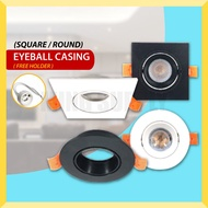 LED Eyeball Casing MR16 GU10 7W Bulb Replaceable Fitting Square Round Downlight Lamp Ceiling Recessed Spotlight 眼球灯筒
