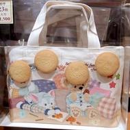 睡衣系列《現貨》日本海洋迪士尼 2018秋日愛睏 帆布袋 手提袋 便當袋 內有餅乾達菲雪麗梅畫家貓史黛拉兔