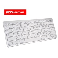 LKCC Wireless Gaming Keyboard Computer Game Universal Bluetooth Keyboard for Spanish German Russian French Korean Arabic
