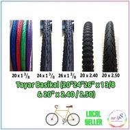 "Tayar Basikal (20"" 24"" 26"" x 1 3/8) (700 x 28C) (27.5"" 29"")(20 x 2.40/2.50) Mini BMX Lady Bike MTB Fixie"