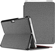 Procase Protective Case for Surface Go 2 2020 / Surface Go 2018, Slim Light Smart Cover Stand Hard Shell with Built-in Surface Pen Holder, Compatible with Surface Type Cover -Lightgrey