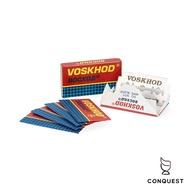 【 CONQUEST 】俄羅斯 Voskhod 雙面安全刮鬍刀片 傳統刮鬍刀片 替換刀片 國際通用規格 一盒五片