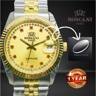 [Ready stock ]Roscani Men Watch/Roscani Lelaki /Gold silver  / Jam Roscani Sapphire / Hadiah 💯