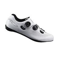 【SHIMANO】RC701 男性公路車競賽級車鞋 寬楦 白色