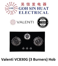 Valenti VC380G (3 Burners) Glass Hob