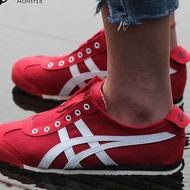 Onitsuka Tiger รองเท้า ผ้าใบ ลำลอง ผู้หญิง สลิปออน โอนิซึกะ ไทเกอร์ Mexico 66 slip on Japan Red White ++ของแท้100% พร้อมส่ง ส่งด่วน kerry++