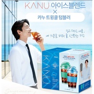 韓國 Mini KANU 【Maxim】孔劉咖啡 冰美式 輕度烘培 無糖咖啡 附環保飲料杯(隨機)100入 100G