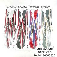 DASH110 V2 HONDA STICKER COVERSET STRIP
