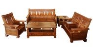 【尚品傢俱】688-18 雅典樟木全實木木組椅 (1+2+3+大、小茶几)家庭沙發/客廳沙發/會客沙發/多件沙發